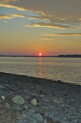 Rocks Watch The Sunset Original by Faith Harron Boudreau