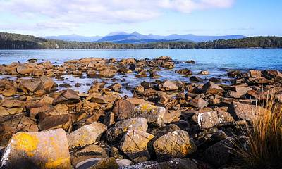 Photograph - Rockscape Of Fishers Point, Tasmania by Lexa Harpell