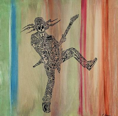 Blue And Pink Dance Painting - Rockstar 1 by Stephen Jernigan