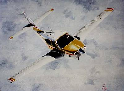 Wall Art - Painting - Rockwell Commander 114-t by Peter Ring Sr