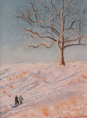 Rockwood Hall Snow Day Original by Laura Sullivan