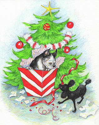 Painting - Rocky And Sheila's Christmas by Peggy Wilson