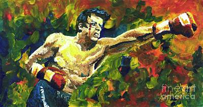 Punching Painting - Rocky by Angee Skoubye