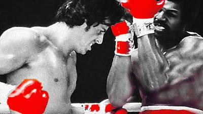 Mixed Media - Rocky Apollo Creed by Nicholas Nixo