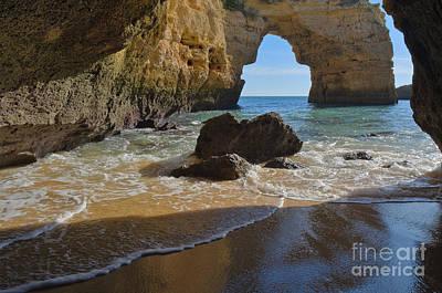 Rocky Arch In Albandeira Beach Art Print