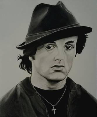 Sylvester Stallone Drawing - Rocky Balboa  by Brandon Treadaway