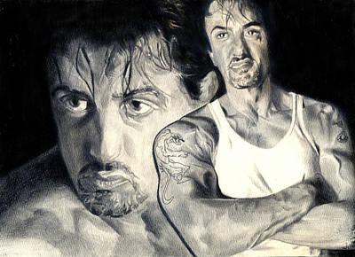 Sylvester Stallone Drawing - Rocky Balboa by Hira Khattak