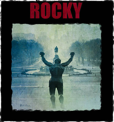 Philadelphia Champion - Rocky Photograph - Rocky Balboa On Top Of The Art Museum Steps by Bill Cannon