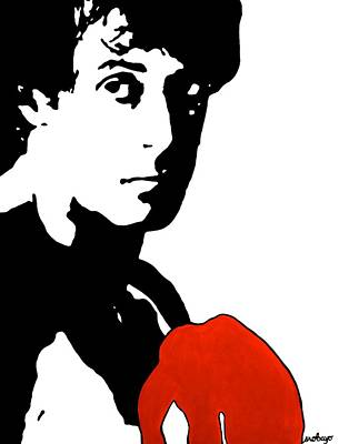 Boxer Painting - Rocky Balboa Painting by Stephanie Robayo