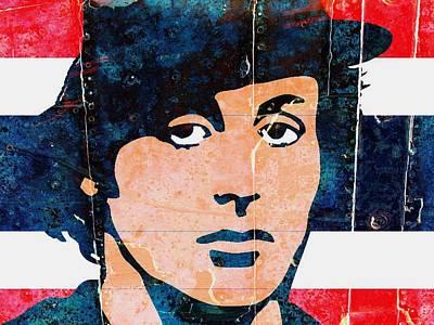 Stallone Painting - Rocky Balboa-rusted Metal by Otis Porritt