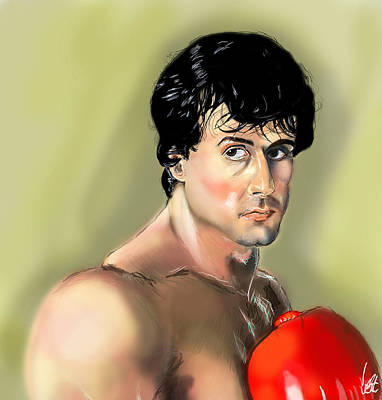 Balboa Digital Art - Rocky Balboa by Vinny John Usuriello