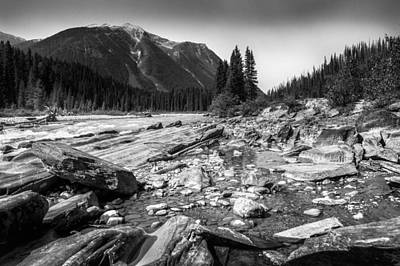 Eduardo Tavares Royalty-Free and Rights-Managed Images - Rocky Banks Of Kootenay River by Eduardo Tavares