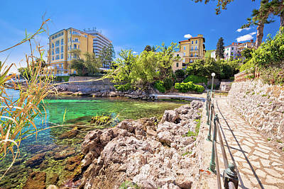Photograph - Rocky Beach And Lungomare Walkway In Opatija by Brch Photography