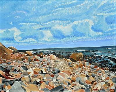 Painting - Rocky Beach by Donna Blossom
