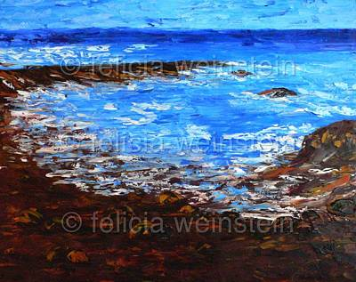 Painting - Rocky Beach by Felicia Weinstein