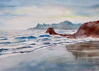 Painting - Rocky Beach by Geni Gorani