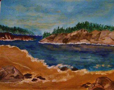 Painting - Rocky Beach by Helen Vanterpool