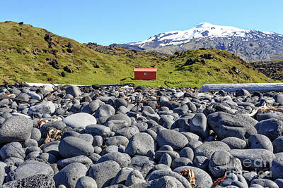 Red Buildings Photograph - Rocky Beach Iceland by Edward Fielding
