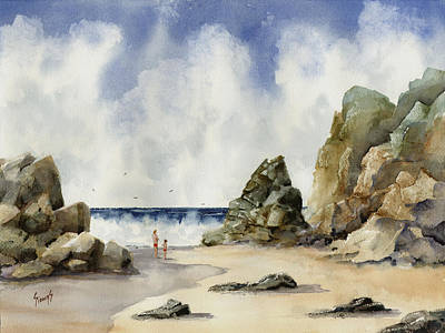 Painting - Rocky Beach by Sam Sidders