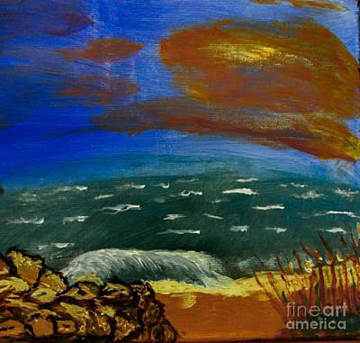 Painting - Rocky Beach by Scott Hervieux
