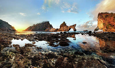 Photograph - Rocky Beach Sunrise, Bali by Pradeep Raja Prints