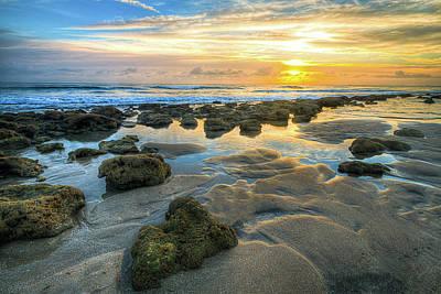 Beach Art Photograph - Rocky Beach Sunrise by R Scott Duncan