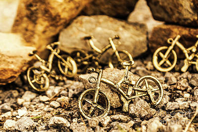 Leaning Photograph - Rocky Cape Bicycles by Jorgo Photography - Wall Art Gallery