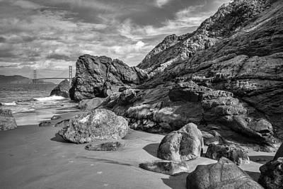 Painting - Rocky China Beach San Francisco by Judith Barath