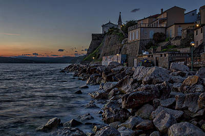 Photograph - Rocky Coast At Dawn - Piran - Slovenia by Stuart Litoff