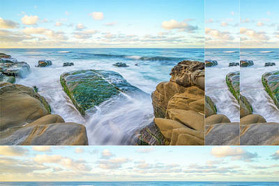 Photograph - Rocky Coast Collage by Joseph S Giacalone