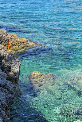 Fun Patterns - Rocky coast in Greece by Patricia Hofmeester