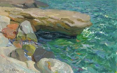 Painting - Rocky Coast Playa D Olla by Ben Rikken