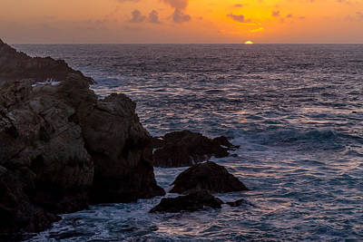 Photograph - Rocky Coast Sunset by Derek Dean