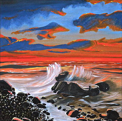 Painting - Rocky Cove by Donna Blossom