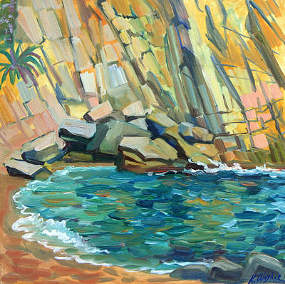 Painting - Rocky Cove by Katia Weyher
