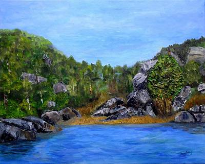 Painting - Rocky Cove by Peggy King