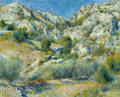Painting - Rocky Crags At L Estaque by Auguste Renoir