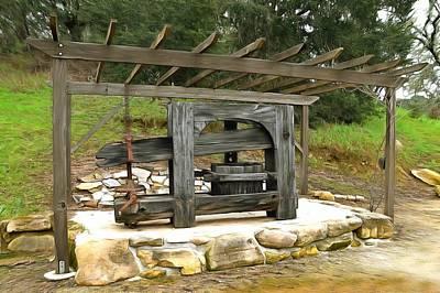 Photograph - Rocky Creek Cellars Wine Press by Floyd Snyder