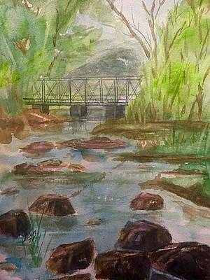 Painting - Rocky Creek In The Catskills  by Ellen Levinson
