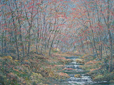 Painting - Rocky Forest. by Leonard Holland