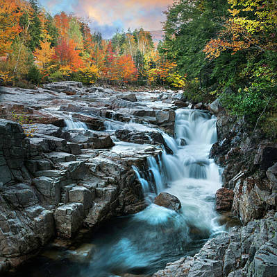 Photograph - Rocky Gorge Falls Of New Hampshire by Expressive Landscapes Fine Art Photography by Thom