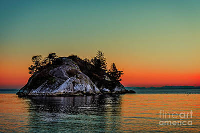 Fruits And Vegetables Still Life - Island of Whytecliff Park at sunset in West Vancouver BC, Canada by Viktor Birkus