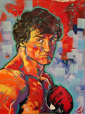 Painting - Rocky Balboa  by Jay V Art