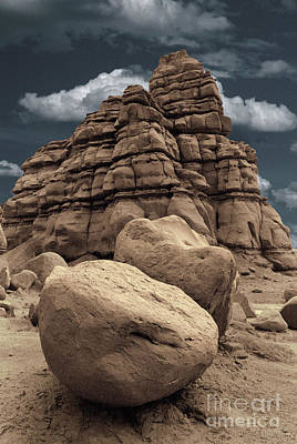 Photograph - rocky landscape - Pinnacles Boulders by Sharon Hudson