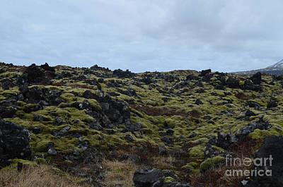Photograph - Rocky Lava Field With Large Volcanic Rocks  by DejaVu Designs