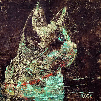 Wall Art - Painting - Rocky by Leslie Rock