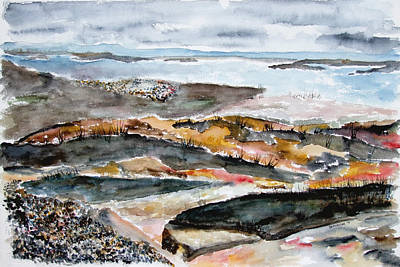 Painting - Rocky Maine Beach 2 by Jan Anderson