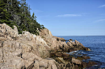 Rocky Maine Coast Print by Brendan Reals