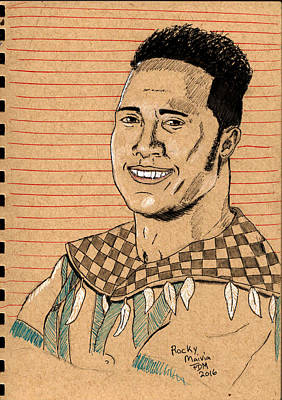 Painting - Rocky Maivia by Frank Middleton
