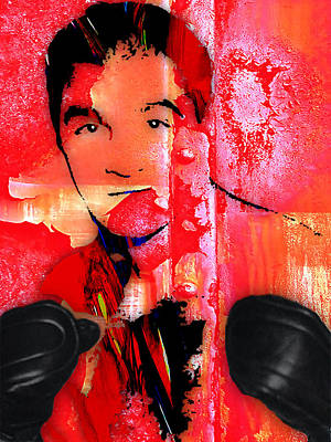 Heavyweight Mixed Media - Rocky Marciano Collection by Marvin Blaine